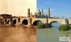 Puente de Piedra y el Pilar, Ayer & Hoy Zaragoza