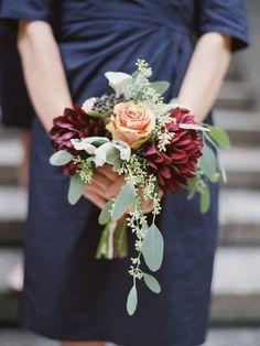 Fall wedding bouquet: http://www.stylemepretty.com/2014/10/01/autumn-backyard-virginia-wedding/ | Photography: Amelia Johnson - www.amelia-johnson.com