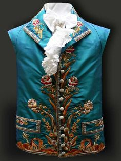 Gilet about 1790. Reproductions by Reine des Centfeuilles - Historical Costumes and Vintage Textiles.