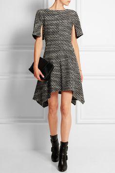 Stella McCartney - Ayana asymmetric wool-blend tweed mini dress 3ba6f606ebf