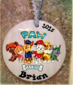 personalized paw patrol ornament