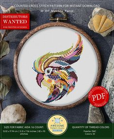Hey, I found this really awesome Etsy listing at https://www.etsy.com/uk/listing/568473666/mandala-parrot-cross-stitch-pattern-for