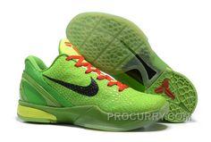 the best attitude f5d33 54a9e Super Deals Nike Zoom Kobe 6 Grinch Christmas Green Mamba Basketball Shoes