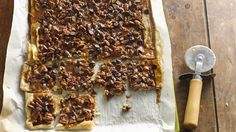 Salted Caramel-Pecan Pie Bark ~ Not your traditional bark. Part cookie, part candy and totally delicious!