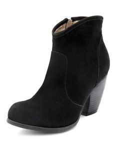 54909ed514 Low-Heel Sueded Western Boot: Charlotte Russe All I Want, Western Boots,