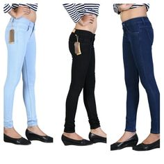 Fasdest Ladies/ Women s Stretchable Slimfit Blue,Black, Ice blue jeans combo