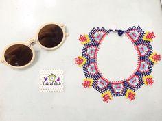 Detalles que enamoran! Nuevos collares hechos a mano! Una joya perfecta para esa blusa o vestido unicolor! COLLAR $45.000 #Sunglasses $20.000  Disponibles para compra inmediata. Estamos en #Cúcuta y realizamos envíos a toda #Colombia. Para  info: llámanos al 3004172602 (Whatsapp)  #coucourya #instamoda #instafashion #fashion #handmade #cali #pasto #compracolombiano #madeincolombia #cucuta #bogota #bogotá #medellin