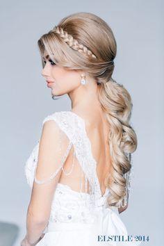 wedding hairstyle with braid via elstile wedding hair