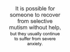 """Selective Mutism vs. Autism-Before I had ever heard of selective mutism, I was interested in autism. Lately, though, it's been getting on my nerves for receiving so much attention when selective mutism is equally common and potentially devastating for the child and his/her family. I can't watch the informational videos on autism here without thinking, """"Apply that to selective mutism and its as bad or worse!"""" So I decided to compare the two (and contrast a bit)."""
