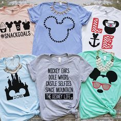 You will adore these Disney Park Tees! Disney World Outfits, Disney World Shirts, Disney Inspired Outfits, Disney Tees, Disney World Trip, Disney Style, Disney Vacations, Disney Cruise, Cute Disney Shirts