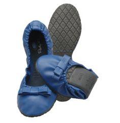 Scholl - Pocket Ballerina™ blu similpelle