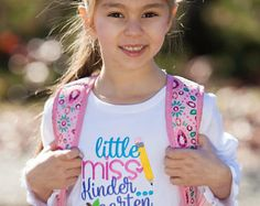 Your place to buy and sell all things handmade Back 2 School, School School, Last Day Of School, School Shirts, Kindergarten Shirts, Fourth Grade, Little Miss, Applique, Preschool
