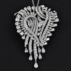 Retro Diamond Pendant/Brooch | Perry's Fine Antique & Estate Jewelry