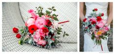 Red and Pink Wedding Bouquet by Mckenzie Brown Photography » Blog