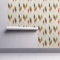 Isobar Durable Wallpaper featuring Mid-Century Diamonds by mid-century | Roostery Home Decor