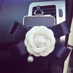 Bling Camellia Car Air Vent Sunglasses cell phone holder - Carsoda - 1