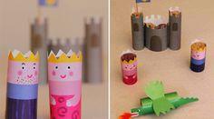 Bricolage avec des bouchons de liège   / wine cork craft: princess castle free #printable
