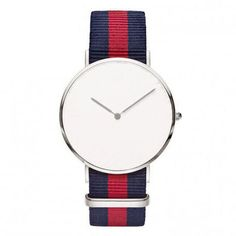 Yacht Minimal with Blue & Green Nylon Strap (Silver or Gold) Nato Strap, Rose Gold Watches, Blue Stripes, Bracelet Watch, Blue Green, Pure Products, Silver, Stuff To Buy, Accessories