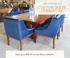 Unique Interiors - Solid Wood Furniture and Interior Decor. Custom Made Furniture, Solid Wood Furniture, Interior Decorating, Interior Design, Scatter Cushions, Garden Furniture, Teak, Dining Chairs, Lounge
