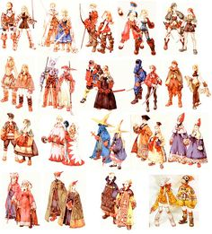 Week 16 - Final Fantasy Tactics - Concept Art Sun - Jobs