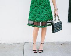 Black CHANEL bag  Sydne Style wears Steve Madden black ankle strap sandals for new york fashion week shoe trends