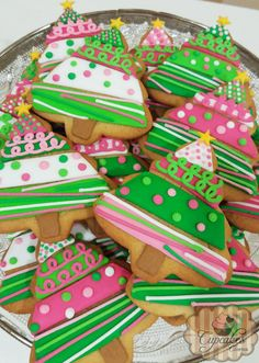 Galletas árbol de navidad de colores