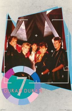 Duran Duran 7 Rare Vintage Poster by ShannonsCollection on Etsy, $24.95