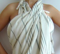Turkish Bath Towel Peshtemal Natural Cotton Green by TheAnatolian, $28.00