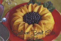 Sunflower bundt cake with chocolate chip middle. I would use blueberries!