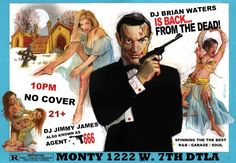 Tonight is Juke NIght at Monty! DJ's Brian Waters & Jimmy James on the decks with a set of throbbing vintage Soul and R! #nocover #DTLA at 10!