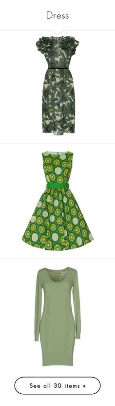 """""""Dress"""" by annanikolova ❤ liked on Polyvore featuring dresses, print, sheath dresses, cinched-waist dresses, green eyelet dress, green print dress, print sheath dress, sleeveless print dress, mixed pattern dress and green color dress"""