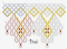 Poé fekete-arany nyakéke 10 vagy 11-es kása, 3 vagy 4 mm-es tekla vagy csiszolt