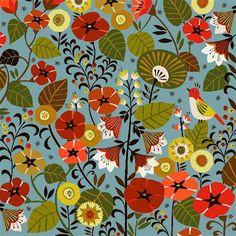 textiles by brie harrison. Textile Patterns, Flower Patterns, Print Patterns, Textile Art, Cloth Patterns, Motif Floral, Floral Prints, Harrison Design, Mexican Textiles