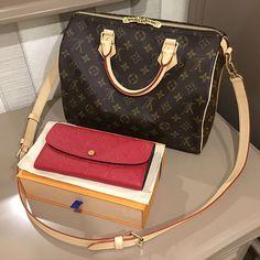 Louis  Vuitton Classic Monogram Speedy Bag  amp  Wallet in Red. Shoulder  Bags 32de4dbdd45