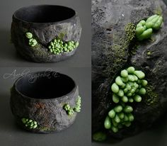 Polymer clay 'Living Stone' bangle. Yevgeny Alexandrov is how Google Translate interprets this lady's name (Евгения Александрова). Apologies if this is way off!