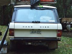 This must be what happens to Range Rovers after a night of heavy oil chugging.