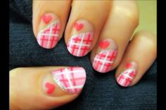 possible valentines nail design? ❤ by cutepolish on YouTube
