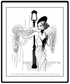 "Funny Lady: Barbra Streisand  Hand signed by Al Hirschfeld  Limited-Edition Etching  Edition Size: 175.  26"" x 20"""