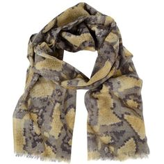 8bd193d0f2d6b3 MERCY DELTA Wool and Silk Python Print Scarf - Faulty