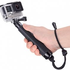 Vicdozia Waterproof Hand Grip Extendable Selfie Stick Handle Monopod Adjustable Pole Compatible with GoPro Hero 7 6 5 4 3 2 1 Session/AKASO SJCAM Xiaomi Yi Camera and More(Black) Pen Camera, Gopro Hero 5, Dji Osmo, Sports Camera, Selfie Stick, Camera Accessories, Action, Sticks, Guy Gifts