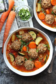 Vegan Sopa de Albóndigas (Mexican Meatball Soup) recipe by Ashley Mexican Meatball Soup, Mexican Meatballs, Vegan Meatballs, Mexican Food Recipes, Soup Recipes, Ethnic Recipes, Recipies, Vegan Recipes, Mexican Desserts