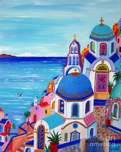 go to Santorini now Painting