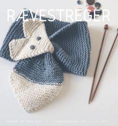 Rævestreger - en ræv til halsen - Trine Kok Knitting For Kids, Knitting Projects, Baby Knitting, Crochet Neck Warmer, Knit Or Crochet, Knitting Patterns, Sewing Patterns, Crochet Patterns, Fox Scarf