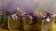 Homemade Soaps wrapped in Tulle