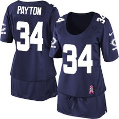 $79.99 Women's Nike Chicago Bears #34 Walter Payton Limited Breast Cancer Awareness Navy Blue Jersey