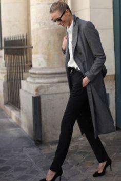 Karolina k in the boyfriend coat