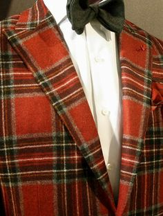 Red Tartan Dinner Jacket from the Isaia