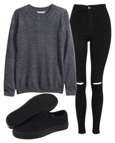 """Untitled #20"" by sadinasoutfits on Polyvore featuring Topshop, H&M and Vans"