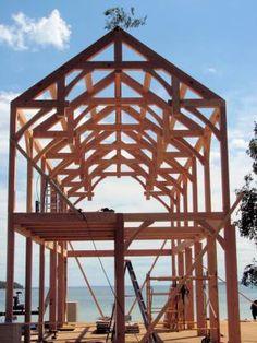 timber frame hammer beam - Google Search