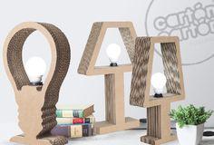 #lámparas #light #decor #carton #original